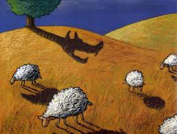 agneau ombre loup